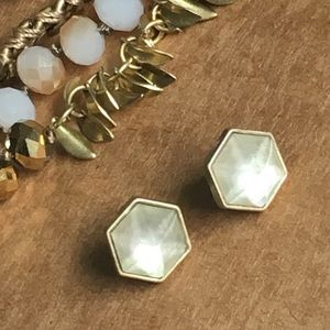 C+I Casablanca Mother-of-Pearl Stud Earrings